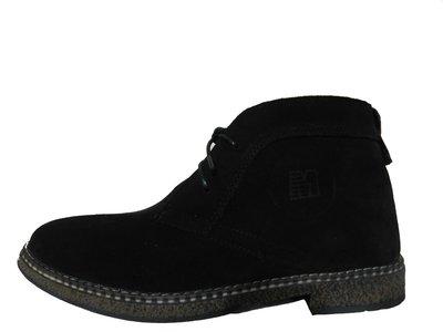 Черные замшевые мужские ботинки