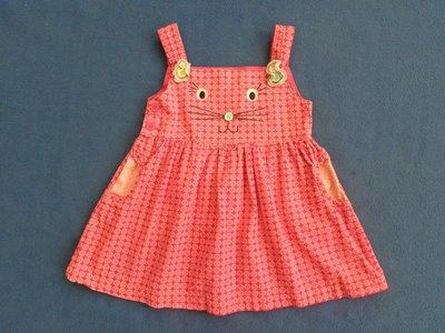Вельветовый сарафан на девочку 9-12 месяцев