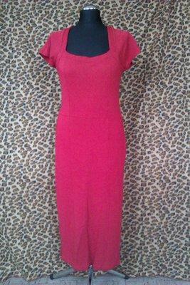 Красное платье, трикотаж