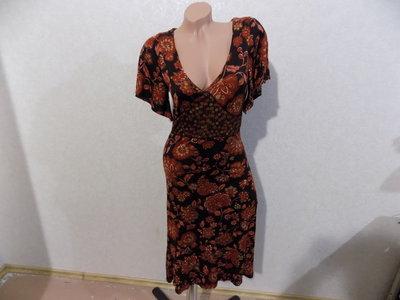 Платье с цветами фирменное размер 46