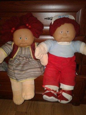 Играшка кукла лялька капуста парочка 47см.