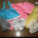 Большой пакет одежки девочке от 56 до 80 см.рост