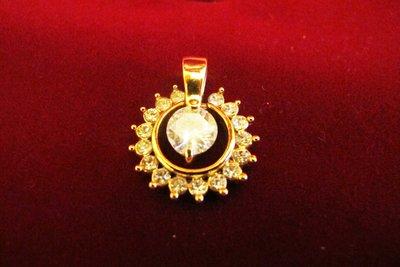 Подвеска оригинальная под золото с цирконием, очень красивая