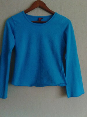 Фирменная французская кофта-блуза-футболка с длинным рукавом с принтом от ekseption
