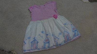 Нежное платьице TU на малышку 6-9 месяцев