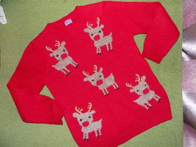 классный свитерок F&F-светятся мордочки