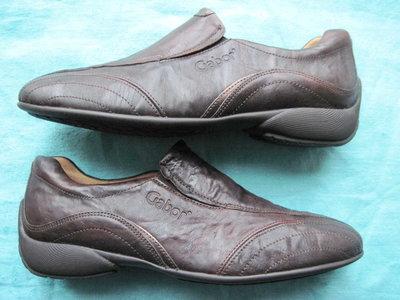 Gabor 37, 23,5 см кожаные кроссовки слипоны спортивные туфли женские