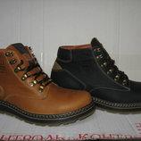 Зимние ботинки типа спорт-комфорт натур.кожа натур.шерсть р.40-45