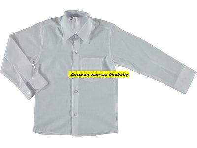 Детская белая рубашка на возраст 9-16 лет
