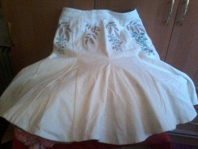 Юбка годе шикарная белая вельвет подкладка вышивка