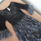 Платье 9-10 лет карнавал паук кочтюм платье утрнник