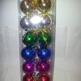 набор новогодних шаров из 12шт