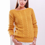 Стильный вязаный свитер 15