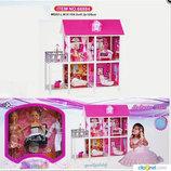 Домик с мебелью для кукол типа Барби 66884