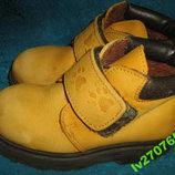 Детские кожаные нубук ботинки на 25р