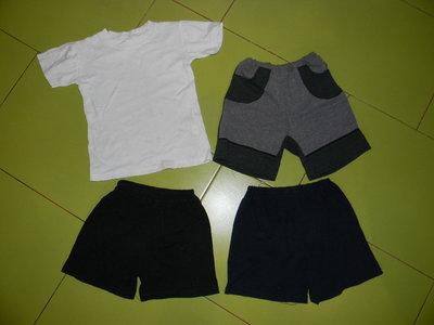 шорты футболка белая на 4-6 лет б/у