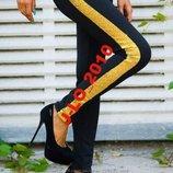 брюки паетки черно золото м-ка