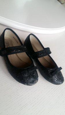 Туфли для девочки черные Reserved 30 размер, 18,5 см, 28 размер, 29 раз, блестки, нарядные, туфельки