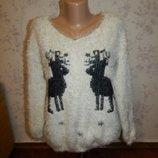 Свитер стильный модный с оленями от Joe Browns pp 16