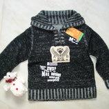 Вязанный свитер свитшот с высокой горловиной