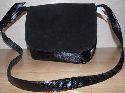 Сумочка через плече натуральный замш спортивная сумочка сумка Камелия