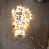 Светящийся Дед Мороз, Санта, ёлка, гирлянда, огоньки