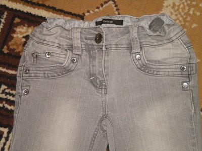 джинсы с камешками 7-8 лет