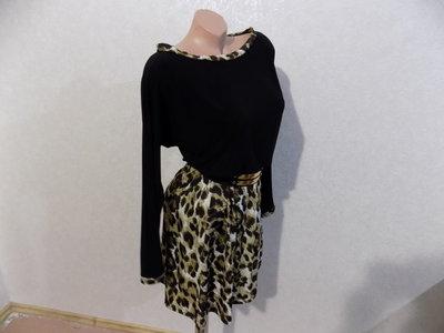 Платье с леопардовым низом размер 44-46