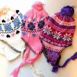 Красивая шапка для девочек 0-3 года