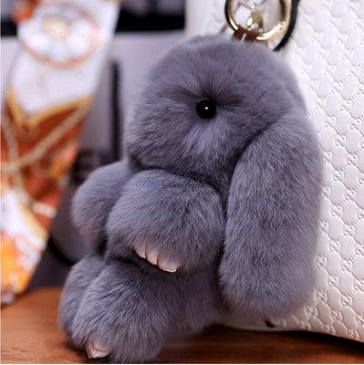 Брелок большой кролик заяц . Кожа, мех