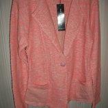 пиджак кофта стильный, трикотажный женский коралл р.М,Л