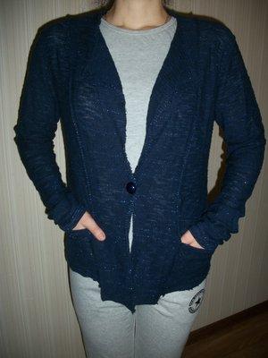 кофта стильная трикотажная женская синяя р.М,Л