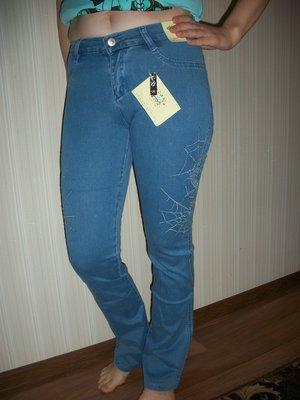 джинсы женские подростковые с камнями р.22,23,24,25,26,27,28,29