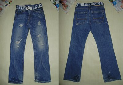Крутые джинсы Abercrombie 10-11л 140-146см Мега выбор обуви и одежды