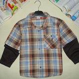 Рубашка Yigga 9лет 134см Мега выбор обуви и одежды