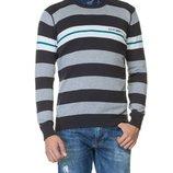 мужской свитер LC Waikiki в серо-бело-темно-серые полосы