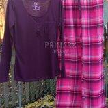 Женская пижама трикотаж фланель. Размеры S, М . Primark