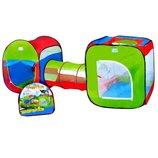 Детская игровая палатка 2 палатки в 1 с проходом