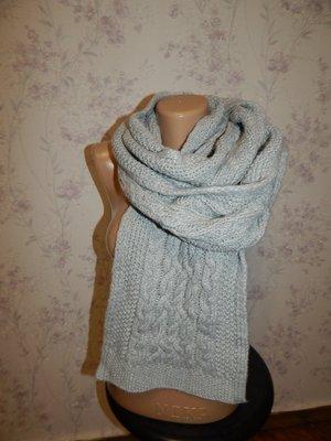 Лаконичный вязаный теплый унисекс женский/мужской шарф от Gap