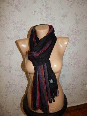 Актуальный вязаный теплый унисекс женский/мужской шарф.