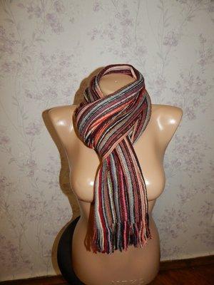 Лаконичный вязаный теплый унисекс женский/мужской шарф