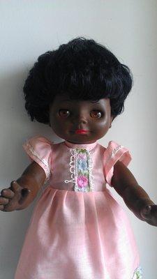 Кукла афро темнокожая Гдр Бигги Biggi винтаж 37см