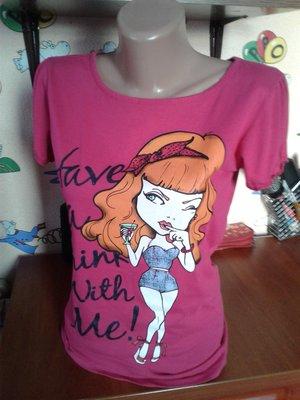 Alcott новая розовая футболка со стразами 46р