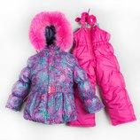Замечательный качественный зимний комбинезон для девочки куртка полукомбинезон