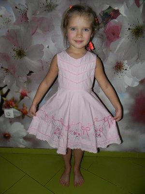 платье -сарафан George на девочку 4-6 лет отл.сост.