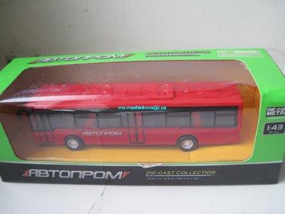 Автобус металл инерц 12,5 см