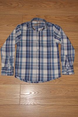 Рубашка в синюю клетку с длинным рукавом Rebel