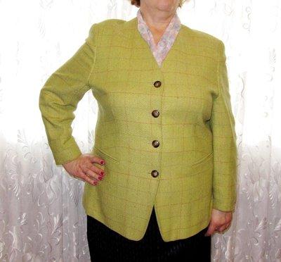 Жакет салатовый, женский пиджак деловой, р. 54-56 Германия