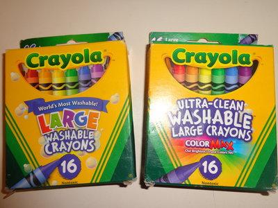 Большие смываемые восковые карандаши Crayola Крайола ,Америка, 16 шт. Оригинал
