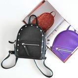 Скидка -15% Кожаный рюкзак маленького размера Baby Sport Black